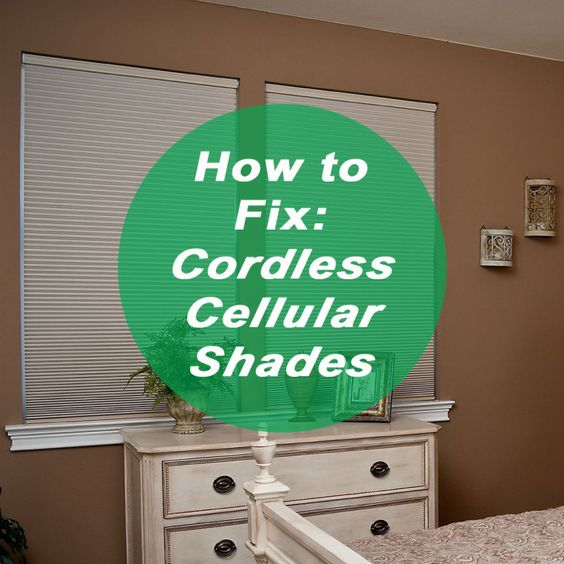 to fix shades and cellular shades on pinterest. Black Bedroom Furniture Sets. Home Design Ideas