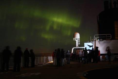 Hurtigruten - Nordlicht im Oktober 2015
