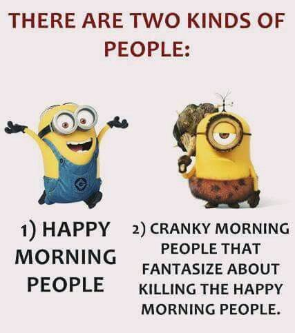 Funny minions not a morning person: