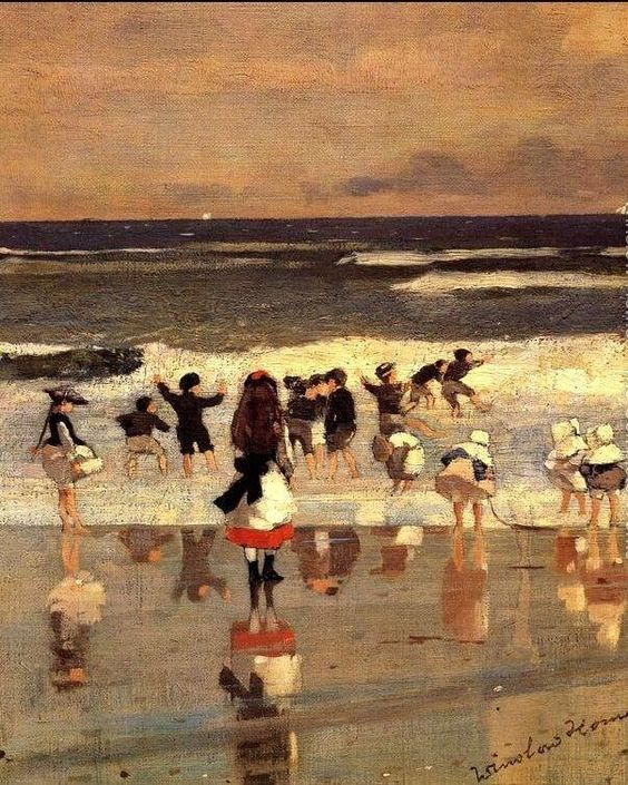 Winslow Homer「Beach Scene」