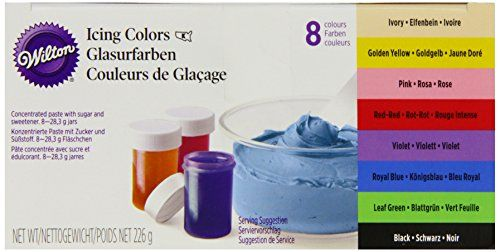 Wilton EU Icing Color Kit 8 x 28 g, 1er Pack (1 x 226 g)…
