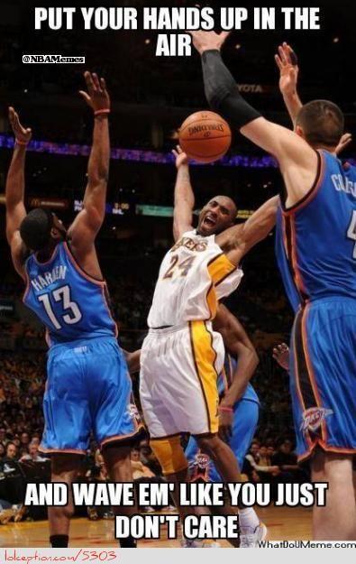 Thunder and Kobe Bryant wttp://weheartokcthunder.com/nba-funny-meme/kobe-bryant-and-company