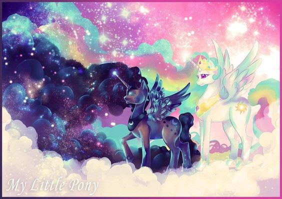 my little pony pitures | Luna and Celestia wallpaper - My Little Pony: Friendship is...