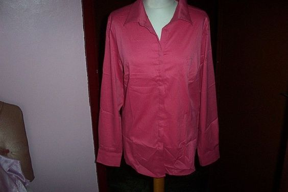 Pink Workwear Blouse Top Shirt by Dimensions Workwear  UK 20