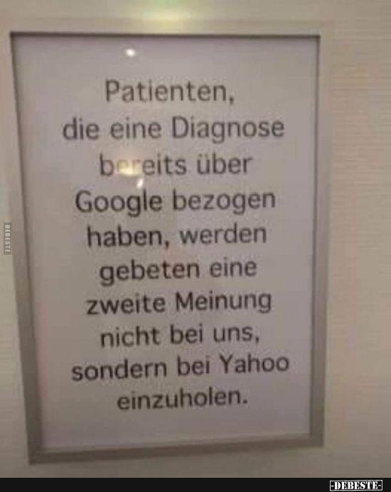 Patienten Die Eine Diagnose Bereits Uber Google Lustige Bilder Spruche Witze Echt Lustig Witze Lustig Witze Witzige Bilder Spruche