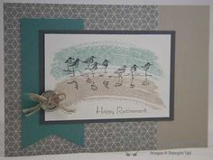 The Crafty Owl's Blog | features Stampin Up's Wetlands and Teeny Tiny Wishes stamp sets. Happy Retirement Card