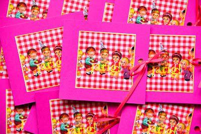 Fieve: Kinderfeestje; uitnodigingkaartjes vintage verjaardag