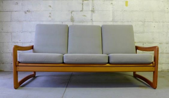 Mid Century Modern TEAK SOFA couch by CIRCA60 on Etsy