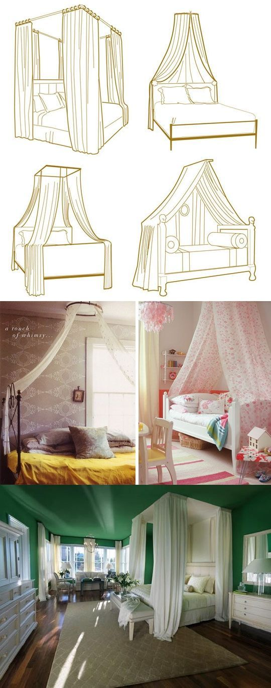 10 Ways To Get The Canopy Look Without Buying A New Bed | Canopy, Dorm And  Beams