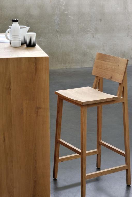 Ethnicraft N4 Bar Stool En 2020 Muebles Para Salas Pequenas Sillas Asientos De Cocina