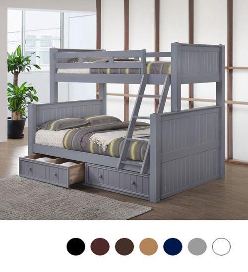 Dillon Twin Over Full Wood Beadboard Bunk Bed Bunk Beds Bunk