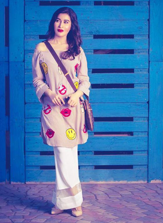 Stitching Styles Of Pakistani Dresses white Bell bottom style