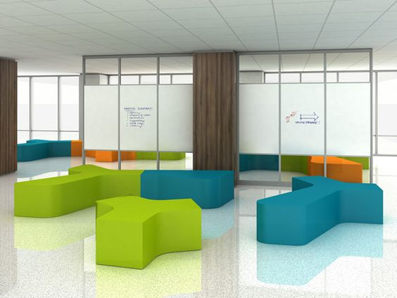 Feek Cluster of Mellow Coated Foam Furniture - Lobby and Lounge,