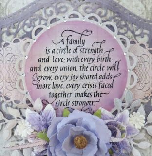 Quietfire Creations: Special Family Card today...