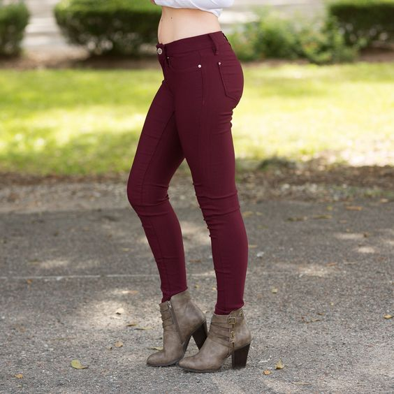 The Blair Jegging - Maroon