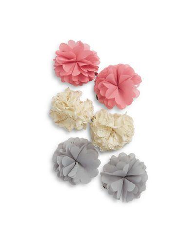 Capelli New York Six-Piece Hair Clip Set  Pink