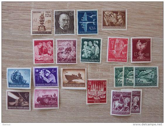Grossdeutsches Reich - Sondermarken / Wohlfahrtsmarken - Luftpost / Hilfswerk u.a. - kleines Marken Lot - ungestempelt
