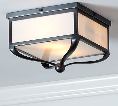 Find a cheaper version for the laundry room? Gothic Lantern Flushmount from Pottery Barn $199