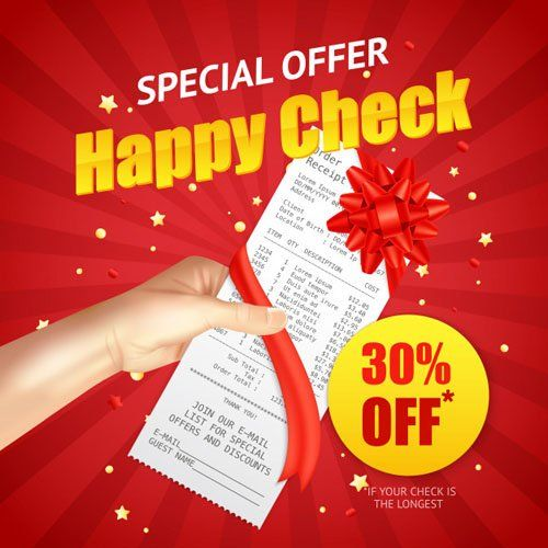 Happy Check Shopping Sale Discount Vector Template Shopping Sale Print Design Trends Discounted