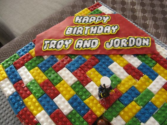 Lego cake - I made this lego cake - one brick at a time - for my neice and nephew.  They loved it - I think I've acquired an irrational fear of lego now!