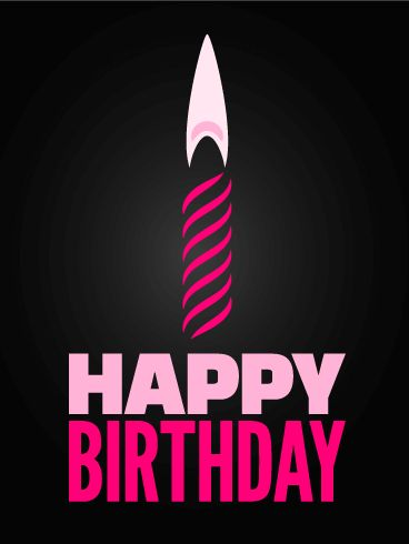 Pink candle happy birthday card happy bday pinterest pink candle happy birthday card m4hsunfo