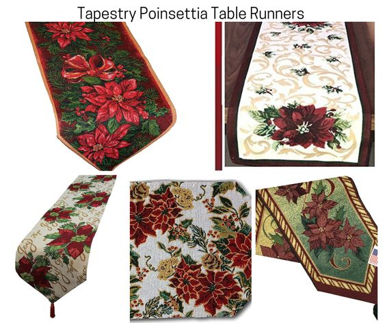 Poinsettia Tapestry Table Runners