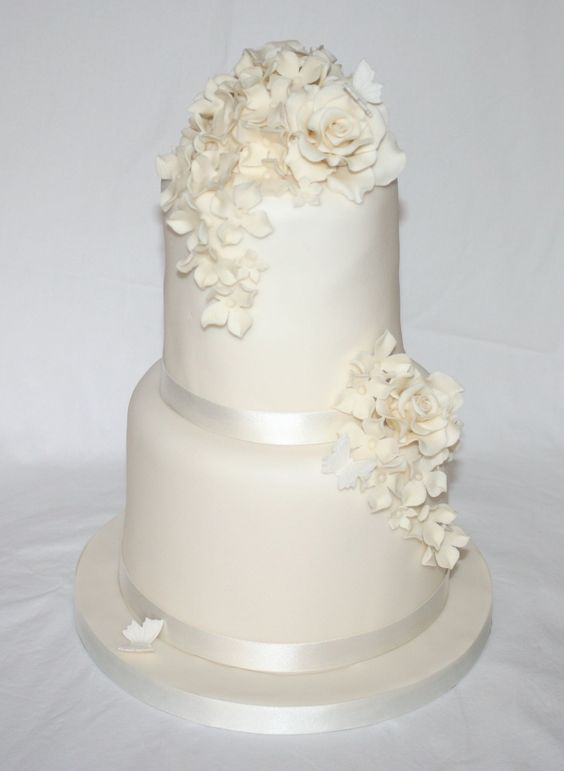 plain wedding cake tiers simple two tier wedding cake wedding ideas 18647