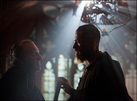 Colm Wilkinson and Hugh Jackman  Les Mis movie