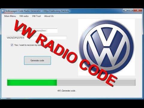 Volkswagen Vw Radio Code Decoding Service How To Get Volkswagen Vw Radio Code Generator Free Polo Golf Passat Bora Jetta Lupo T Radio Coding Radio Code