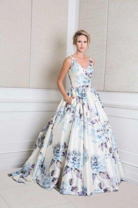 Vestidos de Novia con Estampados de Flores 12