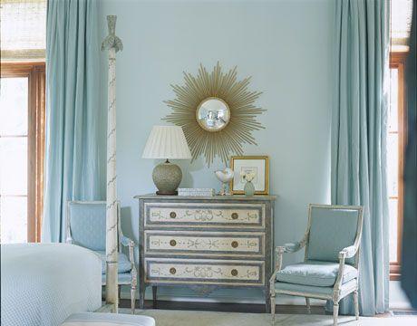 Martha stewart river mist robin 39 s egg blue bedroom for Master bedroom paint ideas martha stewart
