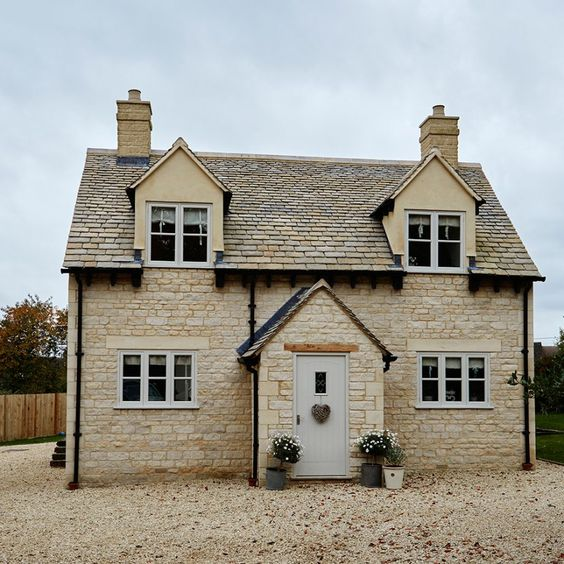 A new build with old charm. Like the look of the exterior of this house.