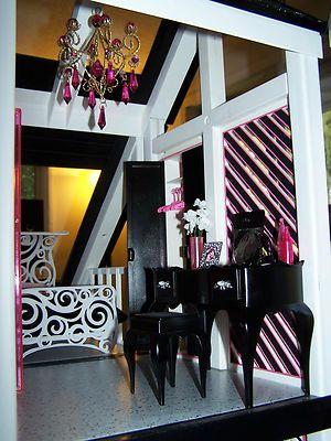 OOAK Diva Barbie Dream House Furniture Sweet 1600 Monster High Mansion Très chic | eBay