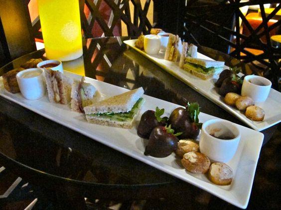 Afternoon tea at Hotel Palomar's BLVD 16