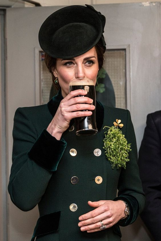 Kate Middleton Looks Totally at Ease While Drinking Guinness and Chatting With Soldiers: