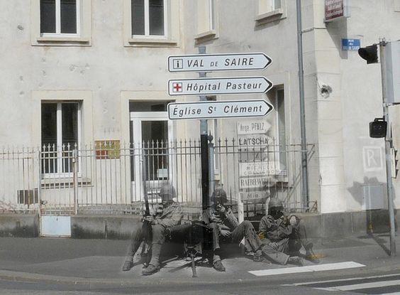 Ghosts of war - France; Taking a break by juffrouwjo, via Flickr