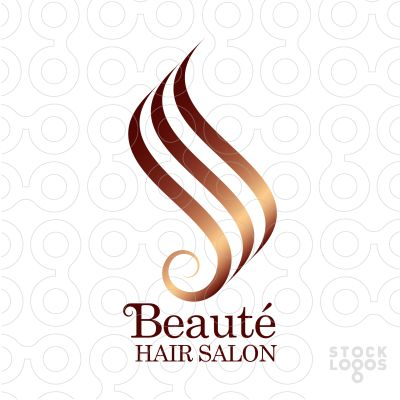 Hair salon design logo salon et cheveux - Logo salon de coiffure ...