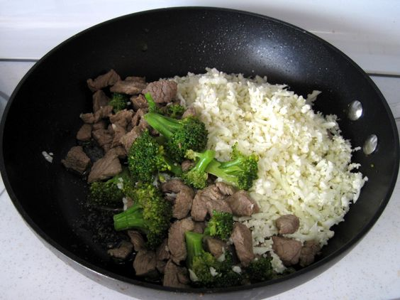 "Beef & Broccoli with Cauliflower ""Rice."" For more recipes go to www.theheathychoice.tsfl.com/explore"