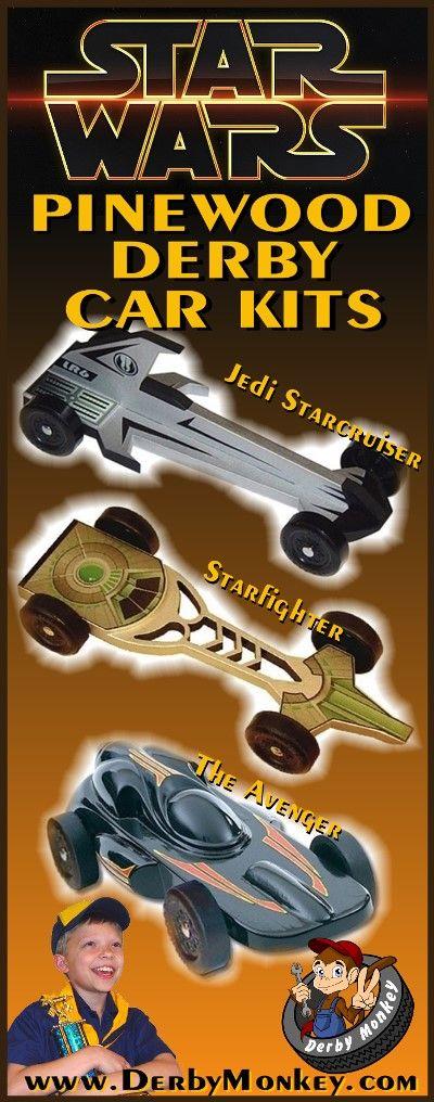 Star Wars Pinewood Derby Car Kits from www.DerbyMonkey.com