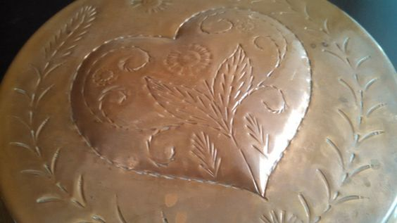Copper Heart Mold with Wheat design by TheCelticBelle on Etsy
