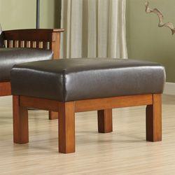 Hills Bi-cast Faux Leather Ottoman