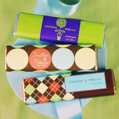 Personalized Wedding Chocolate Candy Bars! Be sure to use the hashtag #beaucoupfavors when repinning!