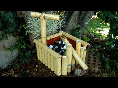 Make a shishi odoshi deer scarer bamboo water fountain diy home inspiration pinterest - Shishi odoshi bamboo water feature ...