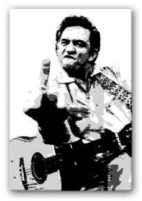 Johnny Cash Pop Art Canvas Print