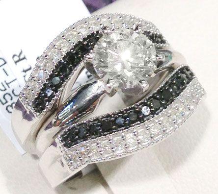 Black Diamond Wedding Ring Guards