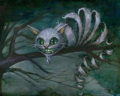 Cheshire Cat painting https://www.facebook.com/KevinEslingerArtist