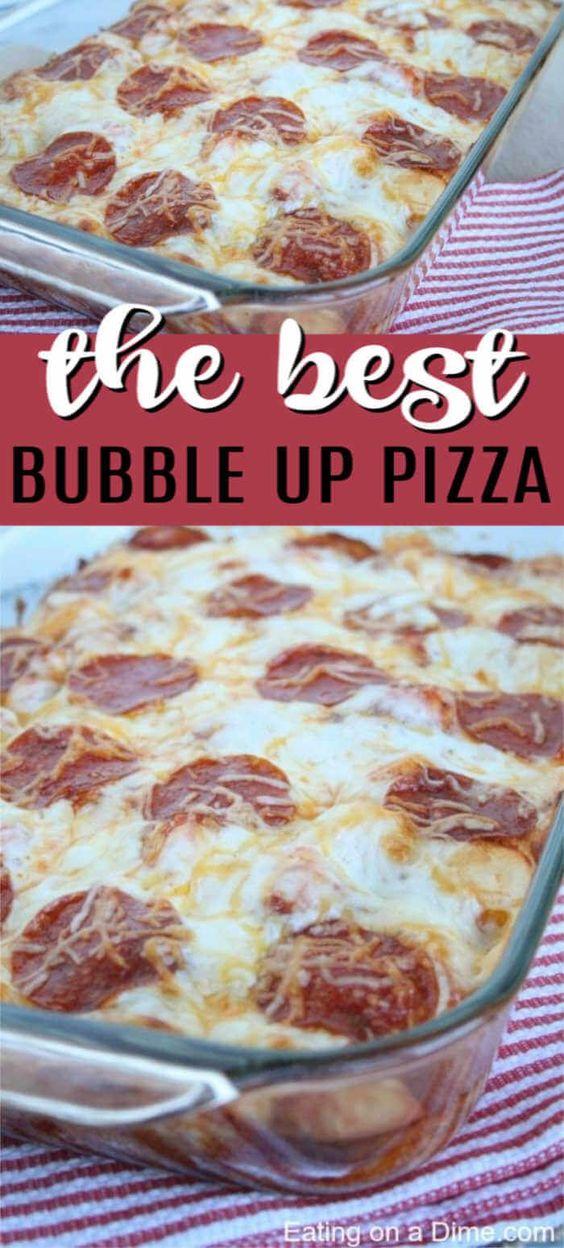 Bubble Up Pizza Recipe - Easy Bubble Pizza Recipe