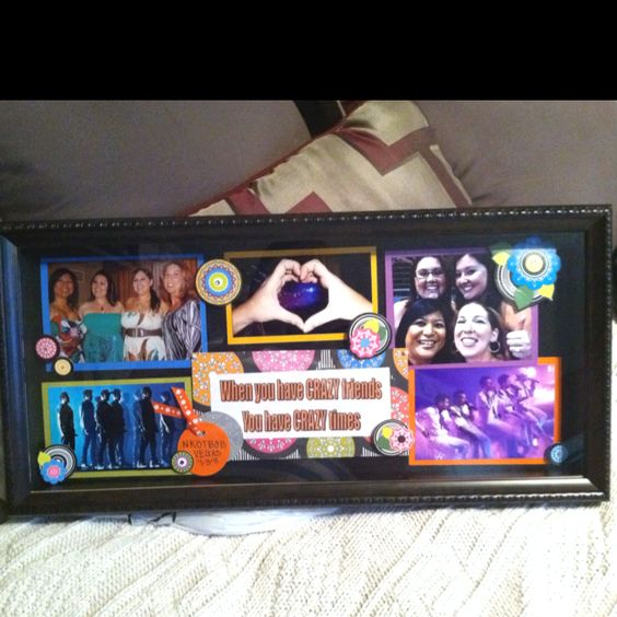 Shadow box I made so we can remember our NKOTBSB Concert in Vegas 2011