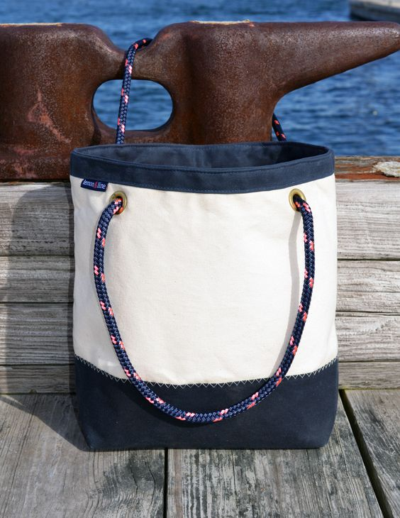 The Boat Bag with an adorable anchor print lining!!