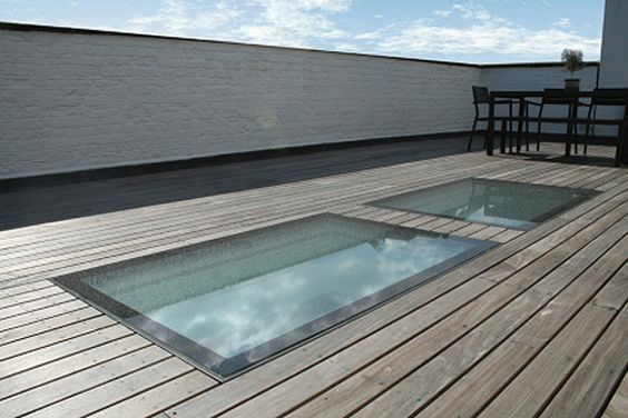 Rooflights and Skylights – Flushglaze Rooflight as walkable surface